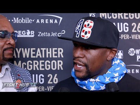 "Floyd Mayweather ""I'm extremely rusty! I'm not looking the same! Not as fast as I use to!"""