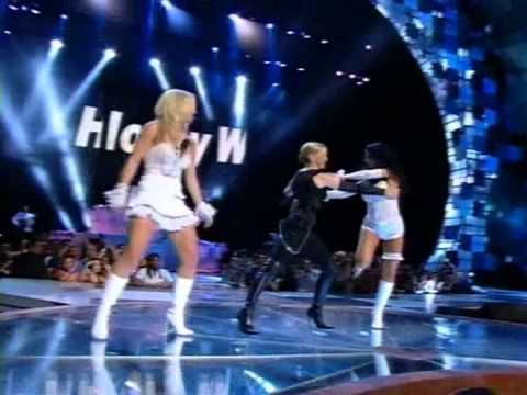 Britney Spears / Madonna / Christina Aguilera - Like a virgen-Hollywood (Live VMA 2003)