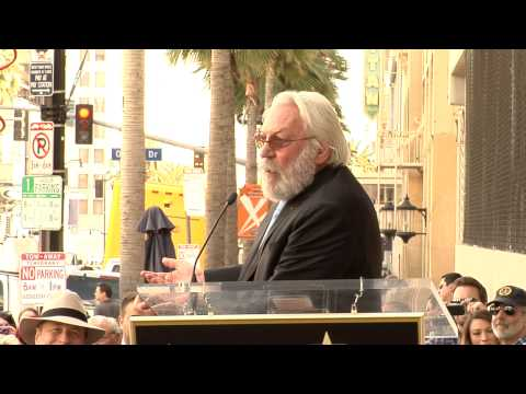 Donald Sutherland honored with Hollywood Walk of Fame Star