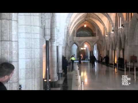 Globe and Mail footage captures shooting in Ottawa Parliament building