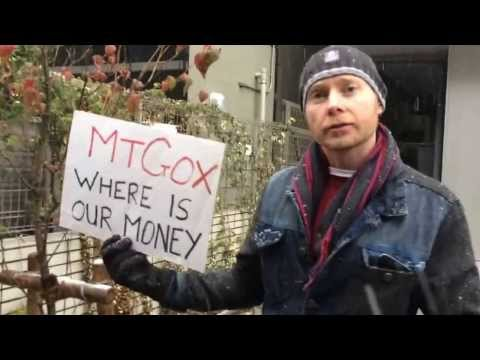 Protest at MtGox, Tokyo, 14th February 2014