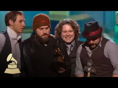Zac Brown Band accepting the GRAMMY for Best New Artist at the 52nd GRAMMY Awards