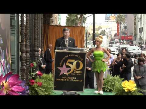 Tinker Bell receives a Star on the Hollywood Walk of Fame