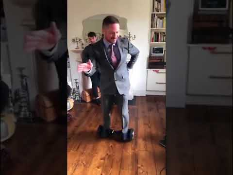 Conor McGregor's Coach Gets a Little Too Confident on Hoverboard
