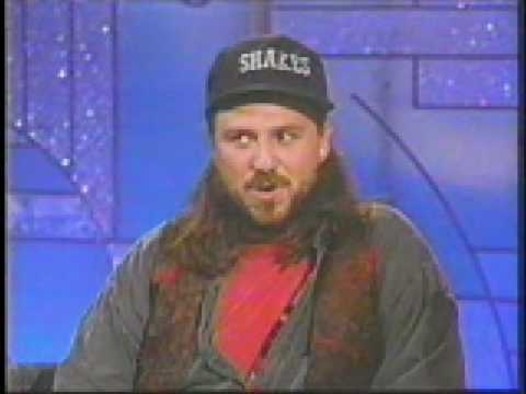 Bobcat Goldthwaite appearing on The Arsenio Hall Show to promote 'Shakes The Clown.'