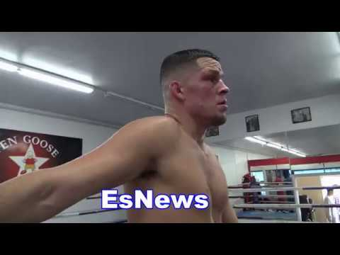 UFC P4P King Nate Diaz Keeping It 100 About Conor McGregor - EsNews Boxing