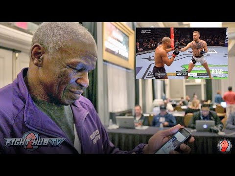 """Mayweather Sr. watches McGregor vs. Alvarez """"A jab would take care his ass all day"""""""