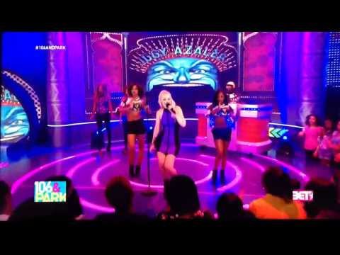 Iggy Azalea performing Change Your Life on BET's 106 & Park on October 3, 2013