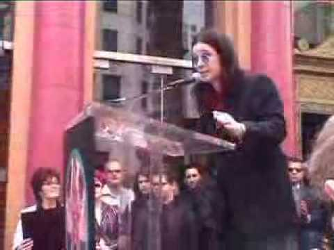 Ozzy gets his star on the Walk of Fame