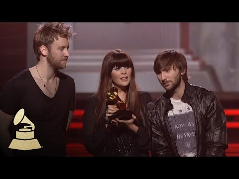 Lady Antebellum accepting the GRAMMY for Song of the Year at the 53rd GRAMMY Awards