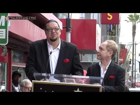 PENN & TELLER HONORED WITH HOLLYWOOD WALK OF FAME STAR