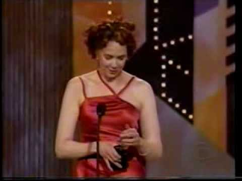 Harriet Harris wins 2002 Tony Award for Best Featured Actress in a Musical