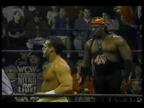WCW Monday Nitro 1-22-96 Harlem Heat vs Sting and Lex Luger Part 1/2