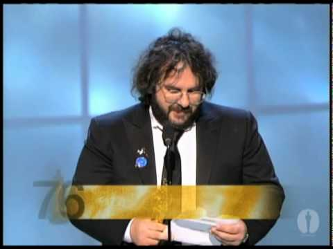 """Peter Jackson winning an Oscar® for """"The Lord of the Rings: The Return of the King"""""""