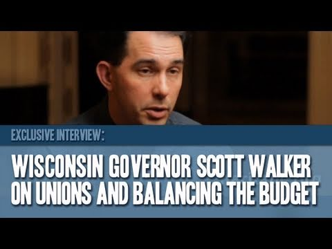 Wisconsin Governor Scott Walker on Unions and Budget Cuts