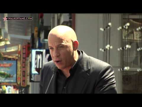 VIN DIESEL HONORED WITH HOLLYWOOD WALK OF FAME STAR