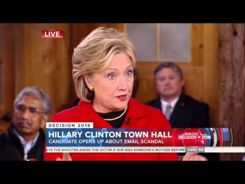 Clinton Dodges On Email Question, Claims To Be The Most Transparent Person In American History