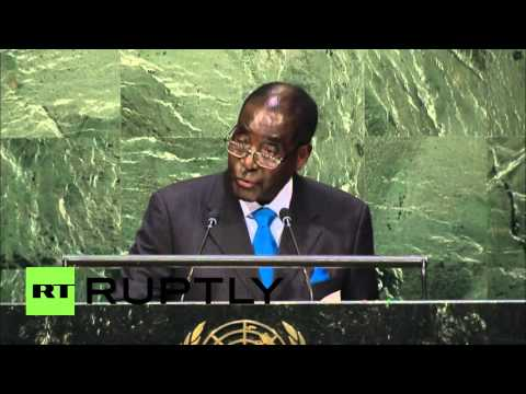 "UN: ""We are not gays"" - Mugabe shocks the UN General Assembly"