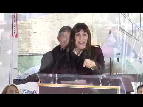 Anjelica Huston Hollywood Walk of Fame Star Ceremony