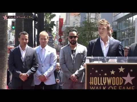BACKSTREET BOYS HONORED WITH HOLLYWOOD WALK OF FAME STAR