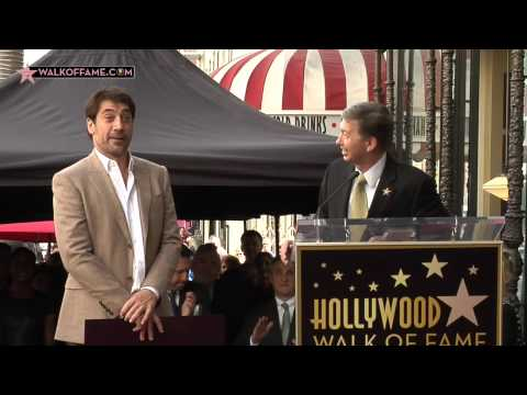 JAVIER BARDEM HONORED WITH HOLLYWOOD WALK OF FAME STAR