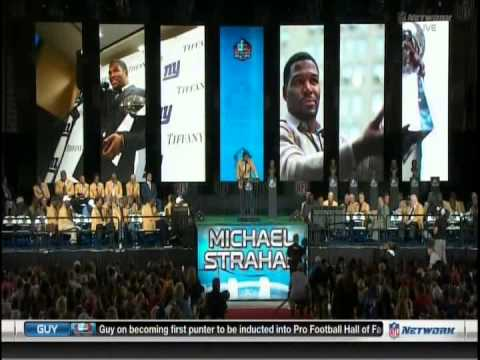 NFL: Hall Of Fame: Class Of 2014: Michael Strahan Enshrinement Ceremony Speech