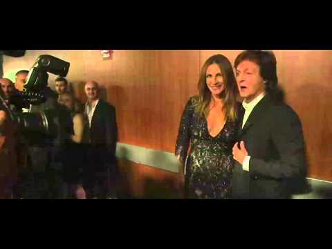 Paul McCartney backstage at the 2014 GRAMMYs
