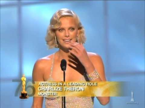 """Charlize Theron winning Best Actress for """"Monster"""""""