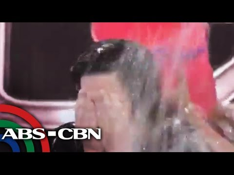 Kris does ice bucket challenge live on 'The Buzz'
