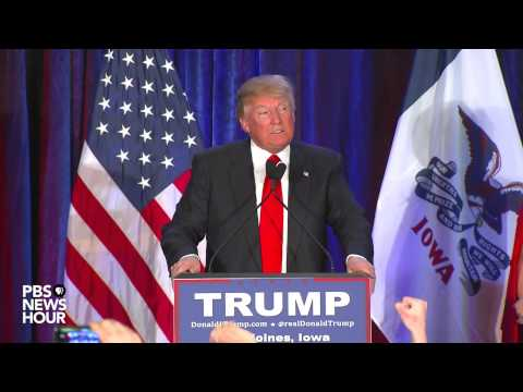 Donald Trump 'honored' by second-place finish in Iowa