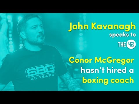 Conor McGregor has chosen not to hire a boxing coach