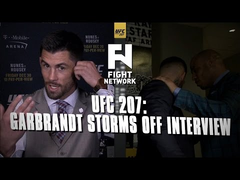 Cody Garbrandt Storms out of Interview With Dominick Cruz | UFC 207