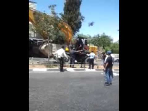 Moment of the terro attack in Jerusalem