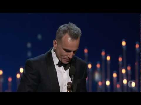 """Daniel Day-Lewis winning Best Actor for """"Lincoln"""""""