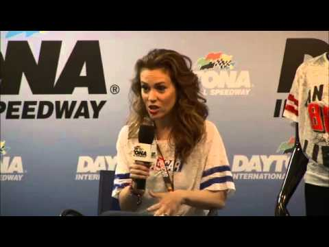 Alyssa Milano talks about her new NASCAR clothing collection for females
