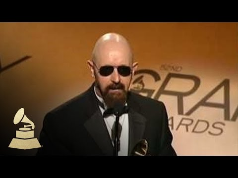 Judas Priest accepting the GRAMMY for Best Metal Performance at the 52nd GRAMMY Awards Pre-Telecast