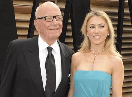 Rupert Murdoch & Juliet Baubigny