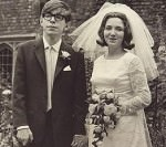 Hawking and Jane Wild at their wedding