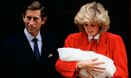 Charles and Diana with Harry