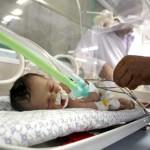 The newborn girl, who is still in an incubator, was named Shayma Shiekh al-Eid