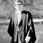 Stephen Hawking at his Oxford graduation ceremony
