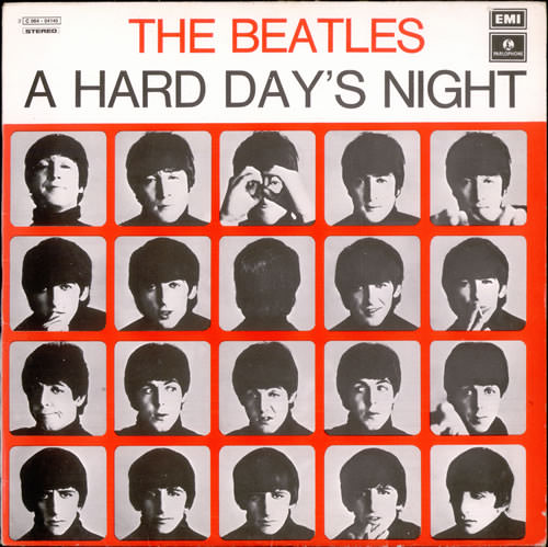 The+Beatles+-+A+Hard+Day's+Night+-+Light+Blue+Label+-+LP+RECORD-372572