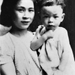 Young Miyazaki and his mother