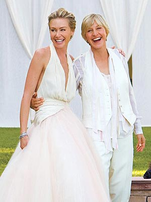 Portia de Rossi marriages