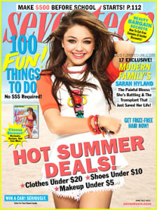 sarah-hyland-seventeen-june-july-cover