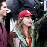 """*EXCLUSIVE* George Clooney and Britt Robertson get ready to film """"Tomorrowland"""" **NO Canada**"""