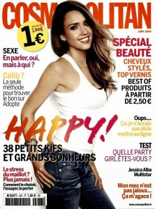 Jessica Alba for Cosmopolitan Magazine, France June 2014