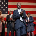 Ben Carson announces his candidacy for president during an official announcement in Detroit, Monday, May 4, 2015. Carson, 63, a retired neurosurgeon, begins the Republican primary as an underdog in a campaign expected to feature several seasoned politicians. (AP Photo/Paul Sancya)