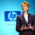 07 May 2002, Cupertino, California, United States --- Hewlett Packard CEO Carly Fiorina speaks during a news conference at HP offices in Cupertino to detail the integration of the former Compaq Computer Corp., following a fierce proxy fight. --- Image by © Kim Kulish/Corbis