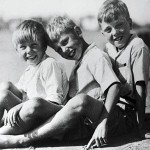 R. Atttenborough on right, other two are brothers